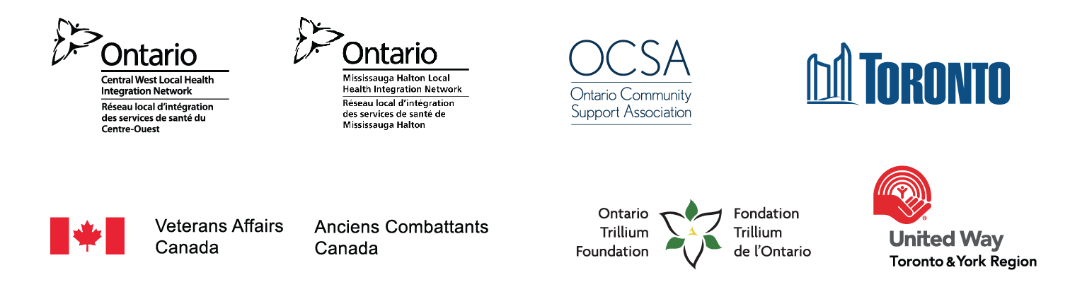 Central West LHIN, Mississauga Halton LHIN, OCSA, Toronto, Veterans Affairs, OTF, United Way Toronto & York Region